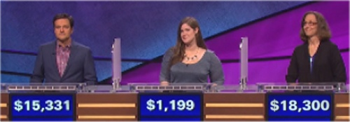 Final Jeopardy (10/19/2016) Shannon Dillmore, Erin Rettling, Debbi Hopkins