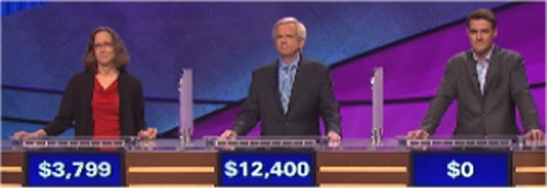 Final Jeopardy (10/20/2016) Debbi Hopkins, Doug Hartman, Hunter Manchak