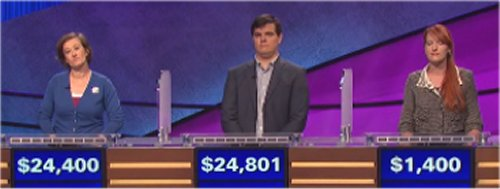 Final Jeopardy (10/26/2016) Lani Gonzalez, George Stuart, Erin Henry