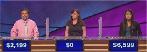 Final Jeopardy (10/28/2016) Ken Hirsh, Meghan Winch, Julia Lee
