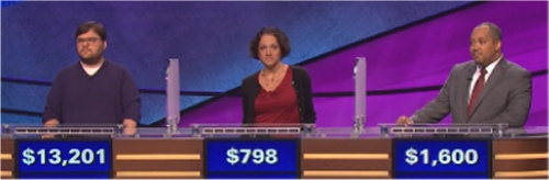 Final Jeopardy (10-3-2016) Seth Wilson, Amy Pistone, George Lyle