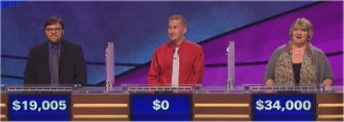 Final Jeopardy (10-5-2016) Seth Wilson, Eric Felkey, Margie Eulner Otts