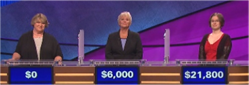 Final Jeopardy (10-6-2016) Margie Eulner Ott, Randi Rae Arnold and Sarah Flamini
