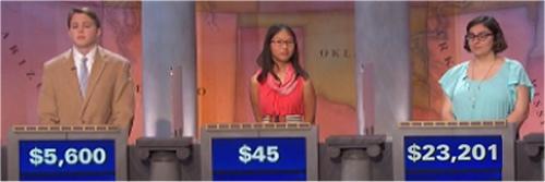 Final Jeopardy (11/10/2016) Jack Bekos, Sabrina Duong, Emily Lamonica