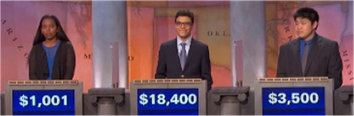 Final Jeopardy (11/11/2016) Leeyu Addisu, Alec Fischthal, Michael Kwan