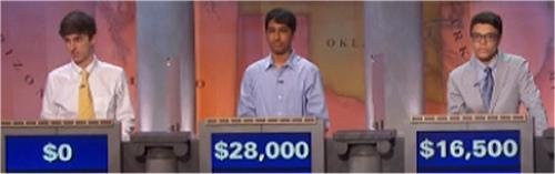 Final Jeopardy (11/21/2016) Michael Borecki, Sharath Narayan, Alec Fischthal