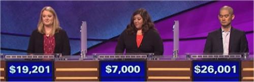 Final Jeopardy (11/23/2016) Stephanie Hubley, Christina Boyadjian, Andrew Lee