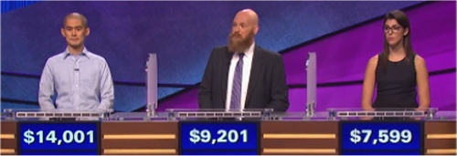 Final Jeopardy (11/24/2016) Andrew Lee, Jay Johnson, Lexie Gagliardi