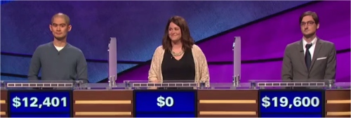 Final Jeopardy (11/25/2016) Andrew Lee, Liz Hutchens, Justin Bender