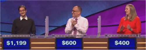 Final Jeopardy (11/28/2016) Justin Bender, Hobie Barnes, Allison Totura