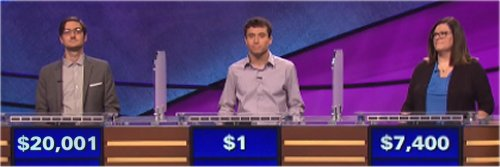 Final Jeopardy (11/29/2016) Justin Bender, Dan Chafetz, Jennifer Berry
