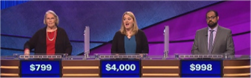 Final Jeopardy (11/8/2016) Georjean McKeeman, Stephanie Hubley, Allon Scheyer
