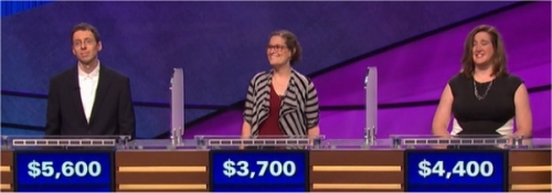 Final Jeopardy (12/12/2016) Tim Aten, Amy Young, Bridget McNulty