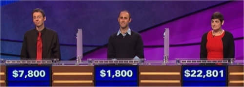 Final Jeopardy (12/13/2016) Tim Aten, Garrett Levenbrook, Cindy Stowell
