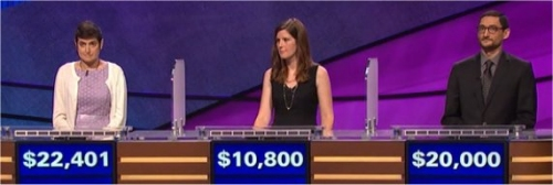 Final Jeopardy (12/16/2016) Cindy Stowell, Erin Williams, Michael Rollins