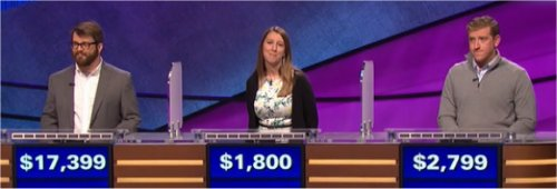 Final Jeopardy (12/23/2016) Sam Scovill, Molly Thacker, Vinnie Chiappini