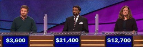 Final Jeopardy (12/29/2016) Justin Scace, Mukund Marathe, Nathalie Szilagyi