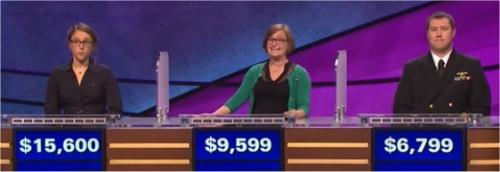 Final Jeopardy (2/10/2017) Kirstin Cutts, Sarah Callori, Brandon Beckler
