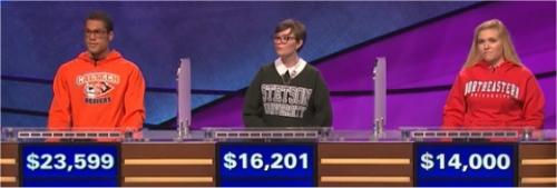 Final Jeopardy (2/15/2017) Alex Bourzutschky, Mari Hanley, Clarissa Santori