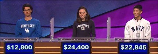 Final Jeopardy (2/17/2017) Zach Atwell, Julia Marsan, Gary Tse