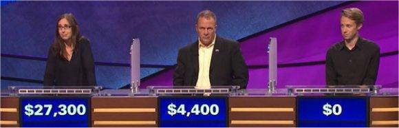 Final Jeopardy (2/2/2017) Lisa Schlitt, Warren Toland, Sean Dennison