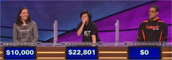 Final Jeopardy (2/20/2017) Julia Marsan, Lilly Chin, Alex Bourzutschky