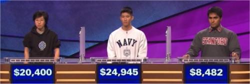 Final Jeopardy (2/23/2017) Lilly Chin, Gary Tse, Viraj Mehta