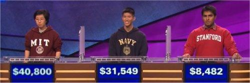 Final Jeopardy (2/24/2017) Lilly Chin, Gary Tse, Viraj Mehta