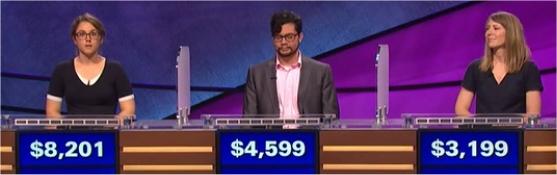 Final Jeopardy (2/27/2017) Kirstin Cutts, Sam Oglesby, Amy Sumner