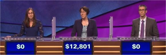 Final Jeopardy (2/6/2017) Lisa Schlitt, Jill Rausch, Matt Kellison