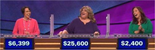 Final Jeopardy (2/7/2017) Jill Rausch, Jody Jabbora, Lauren Michniacki