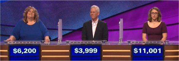 Final Jeopardy (2/8/2017) Jody Jabbora, Carl Falstrom, Kirstin Cutts