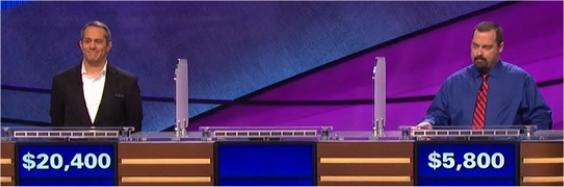 Final Jeopardy (3/1/2017) Rob Liguori, Joe Friedman, Kate Edwards