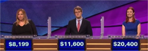 Final Jeopardy (3/10/2017) Annie Marggraf, Adam Lapetina, Jessica Johnston