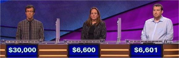 Final Jeopardy (3/15/2017) Grant McSheffrey, Elisabeth Lancaster, Brendon Stanton