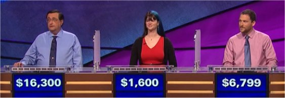 Final Jeopardy (3/22/2017) Kevin Shrum, Madeline Wilson, Emlen Smith