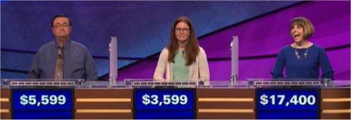 Final Jeopardy (3/23/2017) Kevin Shrum, Robin Devereux, Stephanie Garrone-Shufran