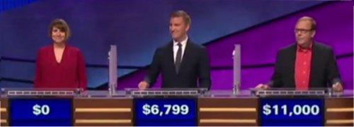 Final Jeopardy (3/24/2017) Stephanie Garrone-Shufran, Jon Beebe, Robert Weibezahl