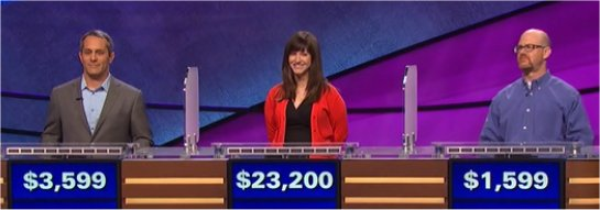 Final Jeopardy (3/6/2017) Rob Liguori, Alison Maguire-Powell, Ernie Sykes