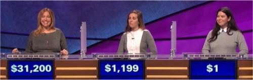 Final Jeopardy (3/9/2017) Annie Marggraf, Rachel Moyer, Serena Kay Tibbitt