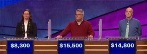 Final Jeopardy (4/17/2017) Deborah Beams, Jamie Newland, Kevin McGinty