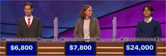 Final Jeopardy (4/24/2017) David Rigsby, Emma Florio, Alan Lin