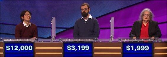 Final Jeopardy (4/25/2017) Alan Lin, Dan Atherton, Meike Olin