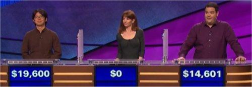 Final Jeopardy (4/27/2017) Alan Lin, Jennifer Fuquay, Troy Steinmetz