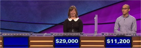 Final Jeopardy (4/3/2017) Eric Vernon, Abigail Myers, Billy Wong