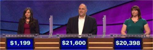 Final Jeopardy (4/6/2017) Nora Rowaily, David Gatewood, Maresha Mead