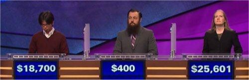 Final Jeopardy (5/2/2017) Alan Lin, Chris Burke, Liz Fischer