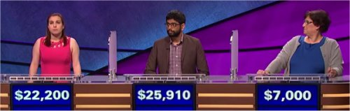 Final Jeopardy: Ellen Corrigan, Pranjal Vachaspati and Carolyn Riegle