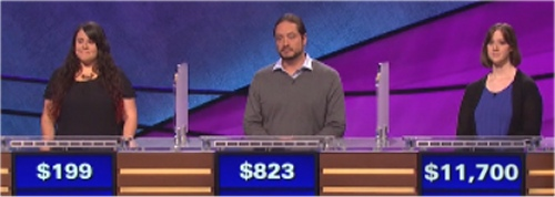 Final Jeopardy: Barbra Resnick, Jim Lebbos and Courtney Paulson