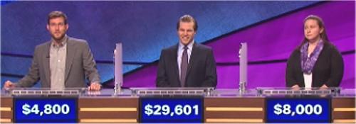 Final Jeopardy: TJ Bateman, Matt Hoffer-Hawlik and Emily Hillard (7-6-16)